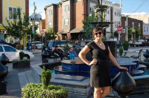 Sara photographed in front of Singing Fountain in Philadelphia's East Passyunk neighborhood. Photo courtesy: Sean Corbett Photography