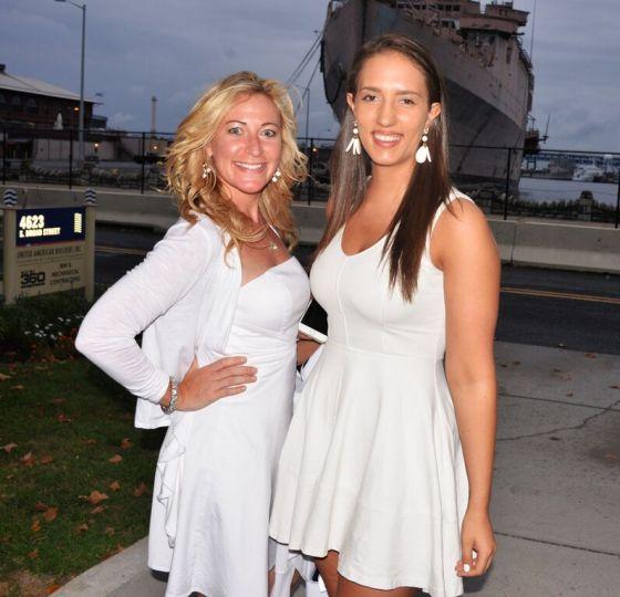 Ravishing ladies in white at the Navy Yard