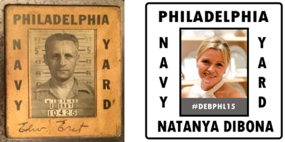 The planning team's badges were based on Natanya's great uncle's Navy Yard badge
