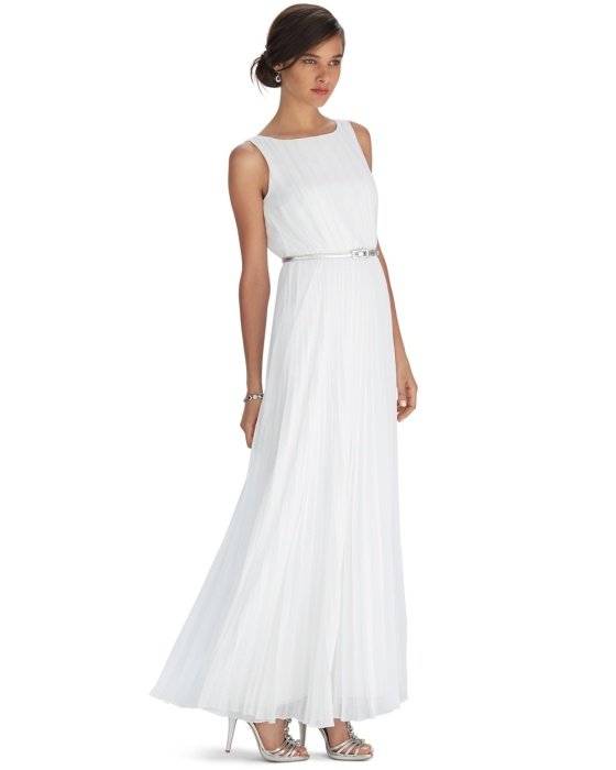white-pleated-maxi-dress